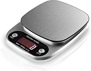 MOCCO 22Lb/10Kg Capacity High Precision Digital Kitchen Scale, Multi-Function Accurate Food Weight Balance with Large Electronic LCD Display, Tare and Auto Off Function for Food Measuring