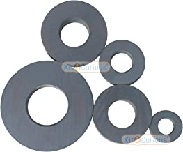 Kit4Curious 5 Big Ring Magnets Ferrite/Ceramic Magnet Different Size 5pcs