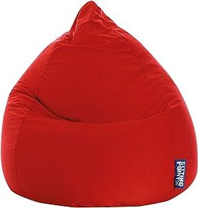 Avanti Trendstore Sitzsack in leuchtendem Rot, in- und outdoorgeeignet