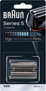 Braun Series 5 52B Electric Shaver Replacement Foil and Cassette Cartridge, Black