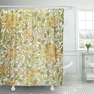 Semtomn Shower Curtain Fine Honeysuckle Morris William 1834 Designs Endpapers Marbled 72