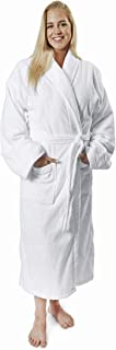 Royal Grand Velour Bathrobe for Men and Women with Shawl Collar and Pockets