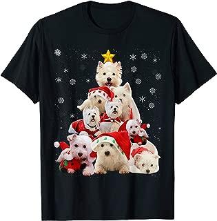 Westie Christmas Tree Funny Dog Christmas Pajamas Gift T-Shirt