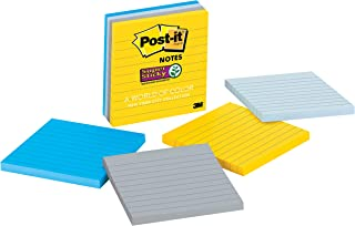 Post-it Super Sticky Notes, 2x Sticking Power, 4 in x 4 in, New York (675-4SSNY)