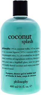Philosophy Coconut Splash By Philosophy for Unisex - 16 Oz Shampoo, Shower Gel & Bubble Bath, 16 Oz