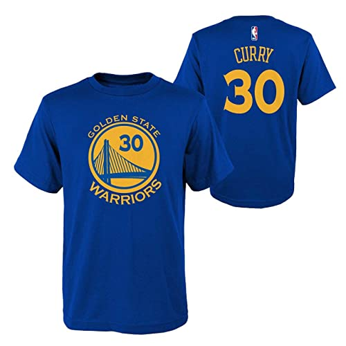 3e60ffdd2cf0 OuterStuff Golden State Warriors NBA Stephen Curry Youth Flat Basic Name    Number Tee