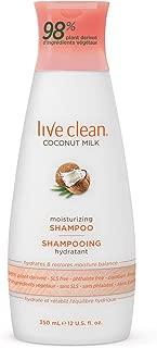 Live Clean Coconut Milk Moisturizing Shampoo, 12 oz.