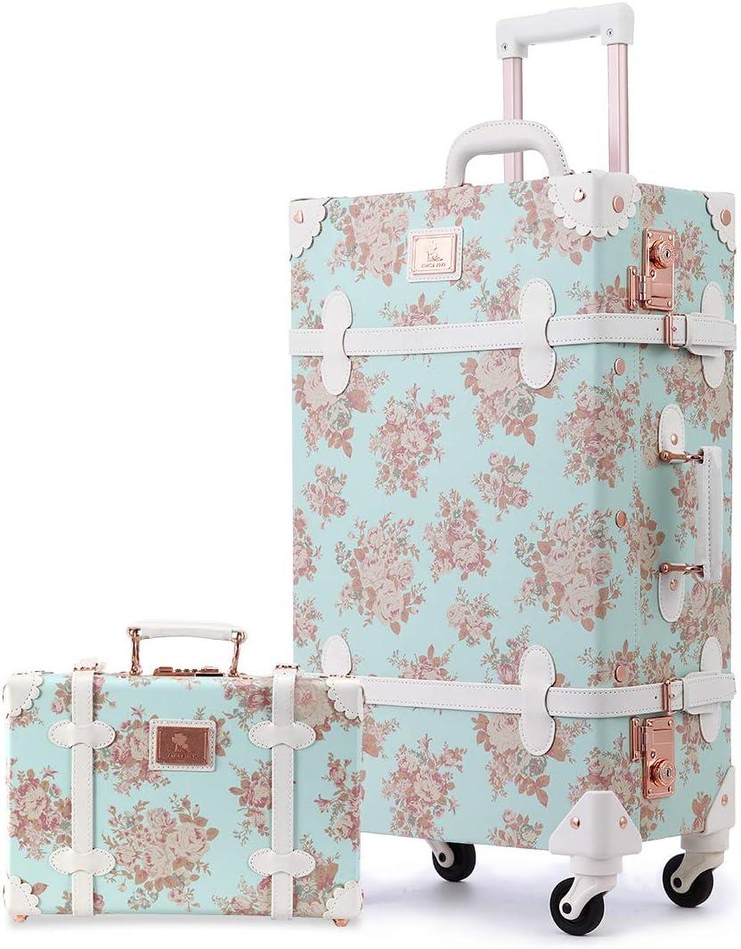 Unitravel Vintage Suitcase Set 20inch Directly managed Max 80% OFF store Carry Luggage TSA Lock on