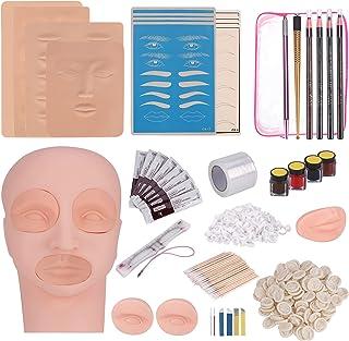 MYSWEETY Tattoo Practice Set, Wenkbrauw Microblading Kit, Tattoo Pen, Wenkbrauw Lippen, Make-up Praktijk, Huidnaalden, Pig...