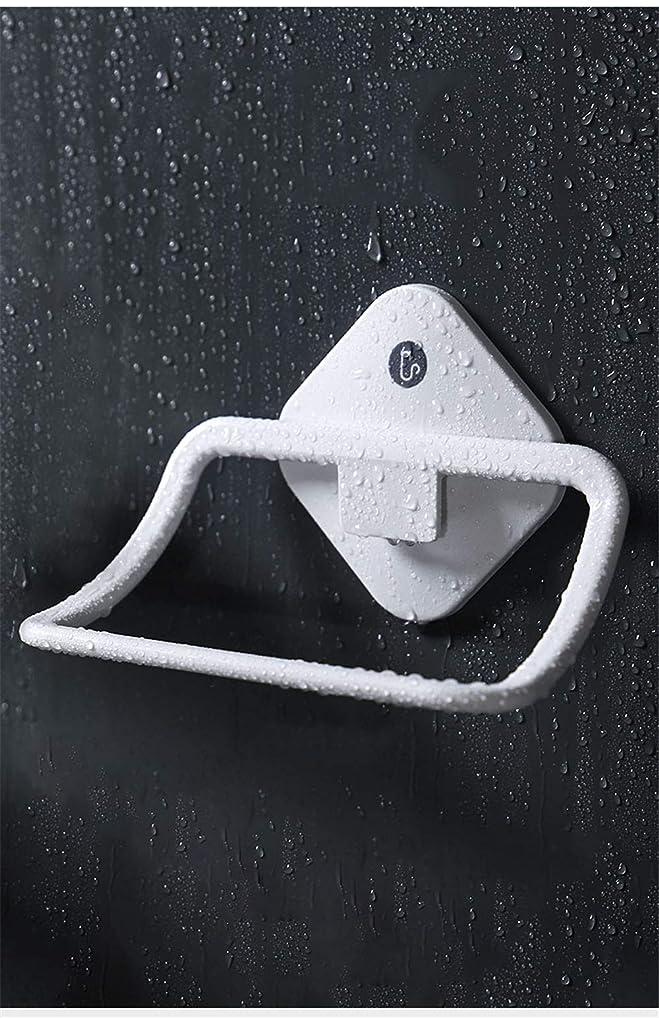 オセアニア診断する未払いトイレには洗顔タオルの棚があります。家庭用のリングは穴なしで貼り付けます。子供用プラスチックの吸盤タオルです。(White)