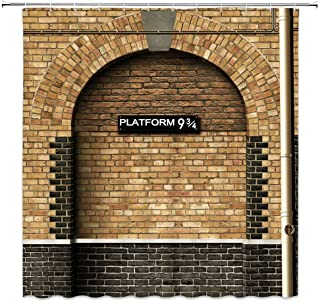 SZDR Platform 9 And 3/4 Of King's Cross Station - Secret Passage To The Magic School Decorative Shower Curtain,Bathroom Accessories, 69X70 Inches, Perfect Anti-Mildew Polyester Fabric Shower Curtain.