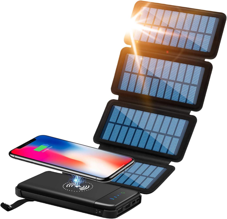CXLiy 10,000mAh Qi  Portable Wireless Charger Solar Power Bank  $20.70 Coupon