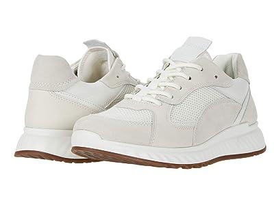 ECCO ST.1 Trend Sneaker (Shadow White/White/Shadow White/White Calf Suede/Yak Leather/Yak) Women