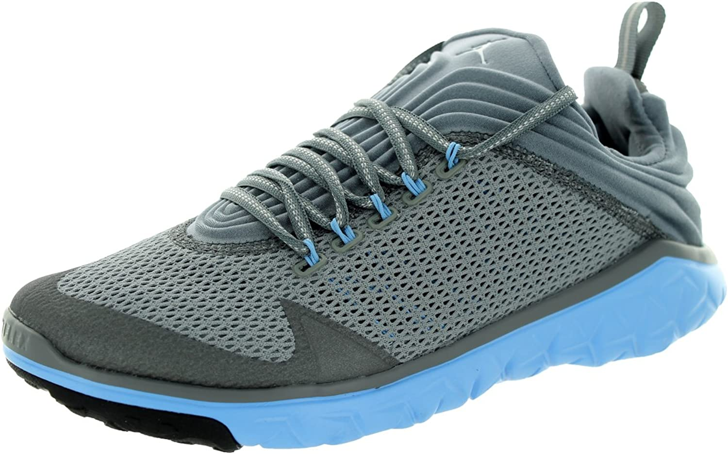 Jordan Nike Men's Flight Flex Trainer Cool Grey White Unvrsty bluee Training shoes 10 Men US