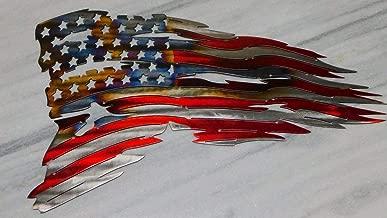 Tattered American Flag Metal Art Wall Decor 24