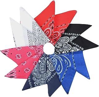Alotpower Square Cotton Bandanas Multipurpose Handkerchiefs for Events