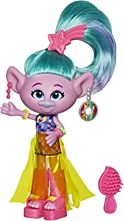DreamWorks Trolls Glam Satin Fashion Doll with Dress, Shoes and More, Inspired by the Movie Trolls World Tour, Toy for Gir...