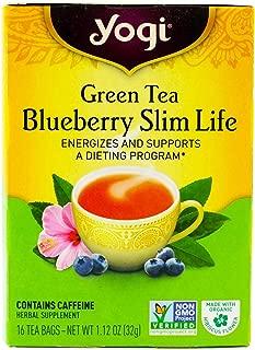 Yogi Tea Green Tea, Blueberry Slim Life 16 bags (Pack of 1)
