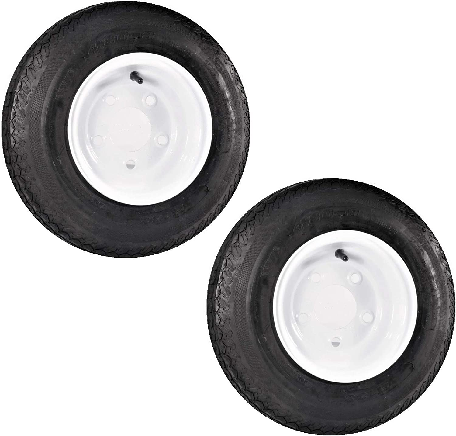 2-Pack Trailer Tire On Ranking TOP20 Rim Luxury 480X8 White C 5 Conventional Load Lug