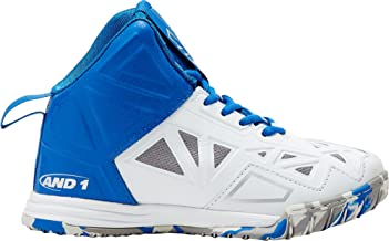 AND1 Kids Preschool Chaos Basketball Shoes (2, Royal/White)