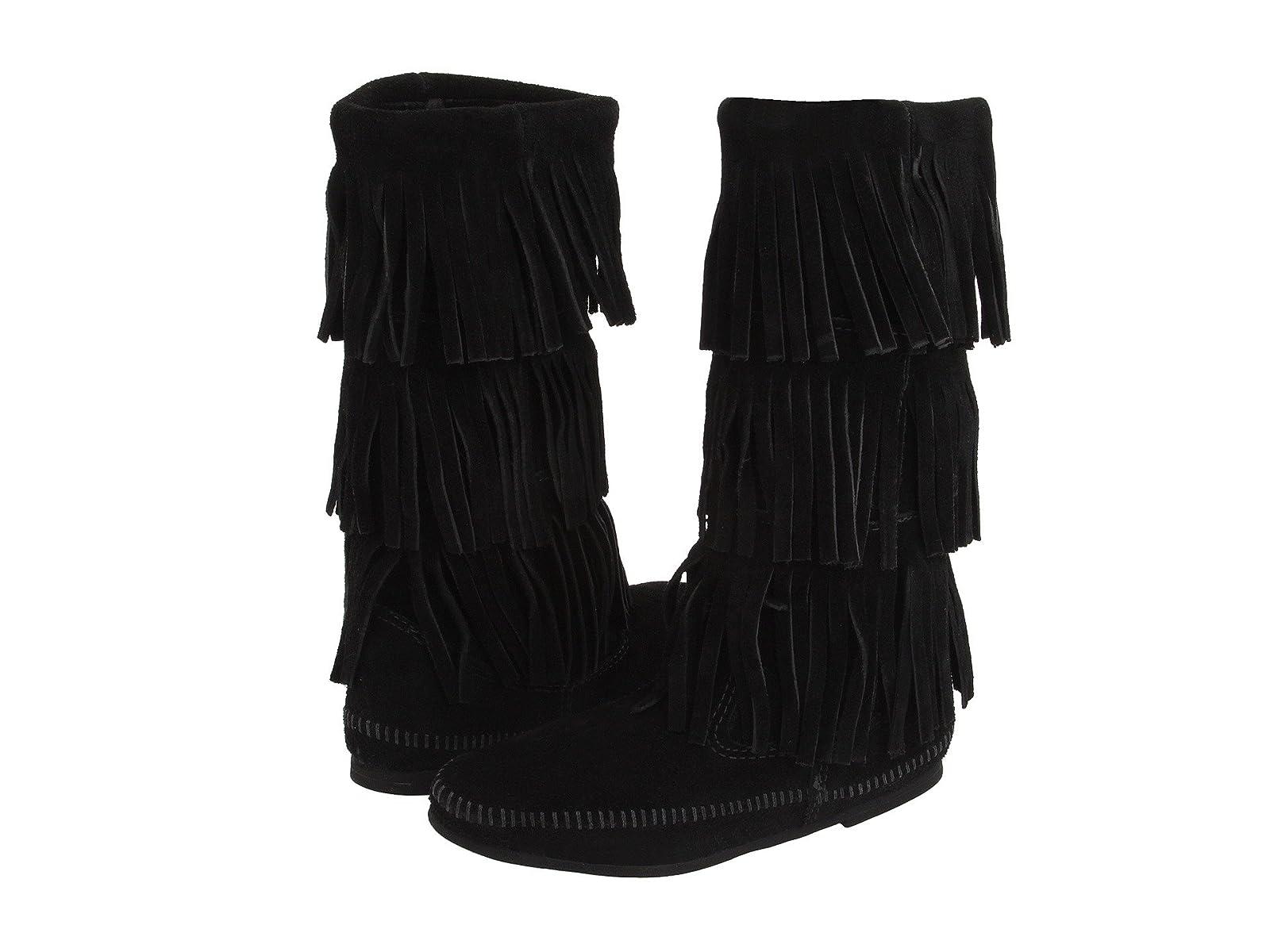 Minnetonka Calf Hi 3-Layer Fringe BootEconomical and quality shoes