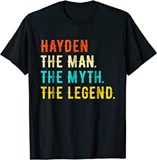 HAYDEN The Man The Myth The Legend T-Shirt Vintage Tee