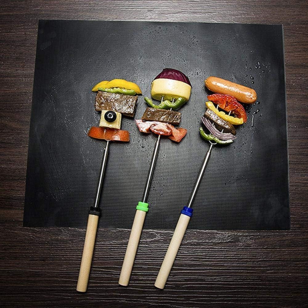 Épais PTFE Barbecue Grill Tapis Antiadhésif Réutilisable Barbecue Grill Tapis Feuille Grill BBQ Doublure Téflon Feuilles De Cuisson Outil, noir 3 pcs Black 2pcs