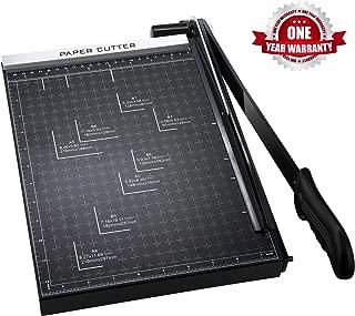 Paper Cutter A4 Paper Trimmer Heavy Duty Photo Guillotine Craft Machine 12 inch Cut Length(A4-Black)