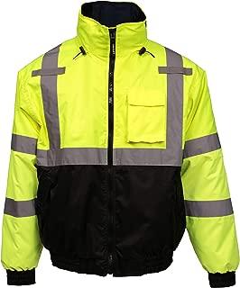 Tingley J26172-L Job Sight Bomber 3.1 Hi-Viz Jacket, Large, Hi/Vis Yellow