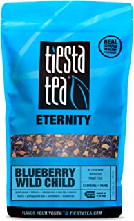 Tiesta Tea Blueberry Wild Child Blueberry Hibiscus Fruit Tea, 200 Servings, 1 Pound Bag - Caffeine Free, Loose Leaf Herbal Tea Eternity Blend, Non-GMO