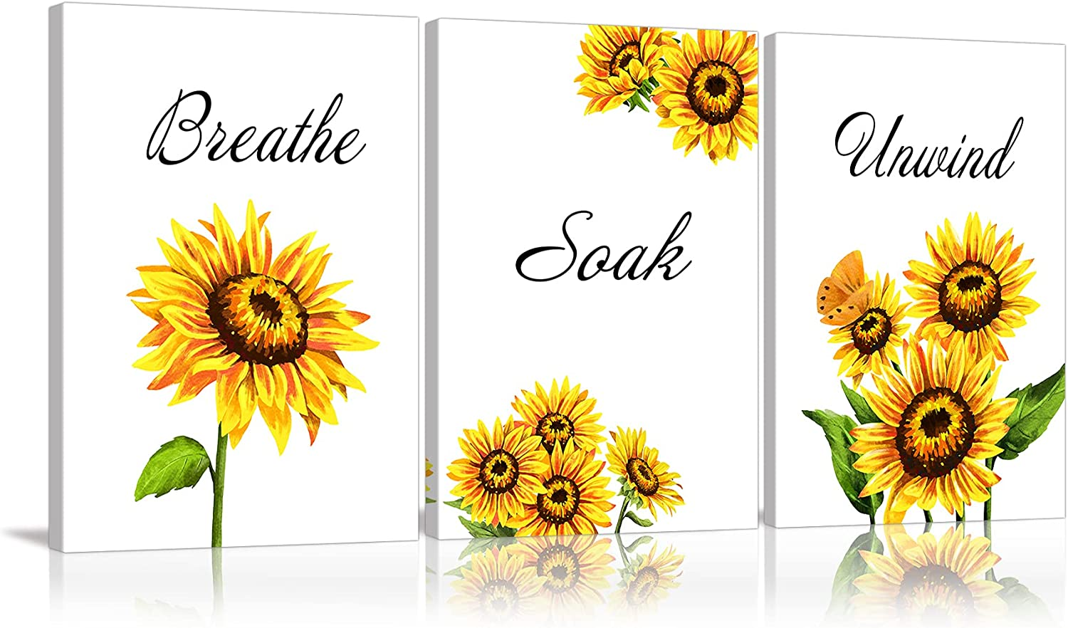 AMEMNY Sunflower Bathroom Decor Wall Super Max 55% OFF sale period limited S Art Print Relax