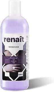 Quitaesmalte con acetona para esmaltes semipermanentes normales y uñas de gel UV LED. Remover Renaît 400ml.