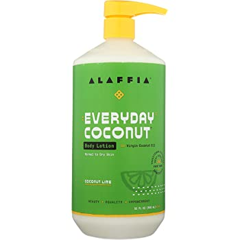 Alaffia Everyday Coconut Hydrating Body Lotion, Normal to Dry Skin, Moisturizing Support for Soft & Supple Skin, Coconut Lime, 32 oz