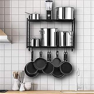 Porte-casseroles Rangement de Cuisine Poêles de stockage Poêles et poêles muraux randonnées de baguettage de 2 niveaux et ...