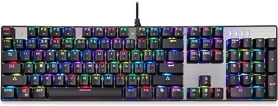 لوحة مفاتيح HXSD ثنائية المحور الأخضر الميكانيكية CK104، 9 أنواع من الإضاءة الخلفية مفتاح كامل بدون رائع، لوحة مفاتيح بلونين (اللون: أسود)
