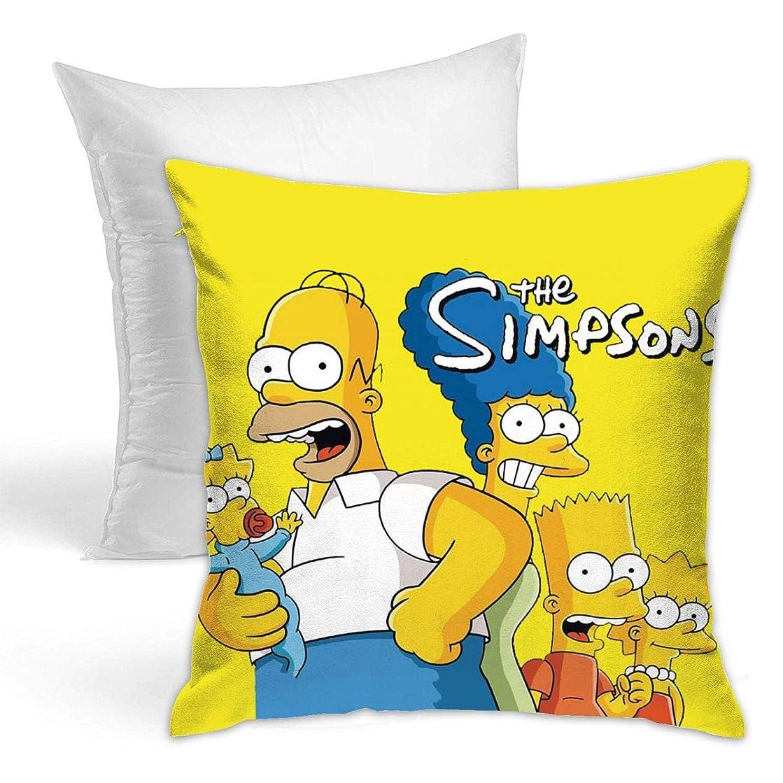 クリエイティブ役に立たない神経障害DSM-BZ クッション ザ シンプソンズ Simpsons 抱き枕 ソファ 枕 飾りピロケース ソファ背当て 装飾枕 座布団 タオル触感 ふんわり 綿 モノトーン シンプル モーダン インテリア 部屋 ソファ クッション 抱き枕