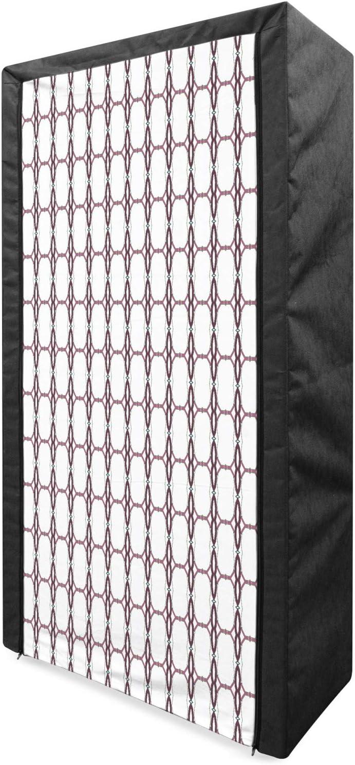 Ambesonne Abstract El Paso Mall Portable Fabric Rhythmic Pattern Wardrobe Max 65% OFF Ge