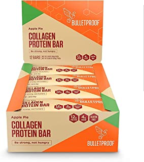 Bulletproof Bars Collagen Protein, Perfect Snack for Keto Diet, Paleo, Gluten-Free, For Men, Women, and Kids (Apple Pie)