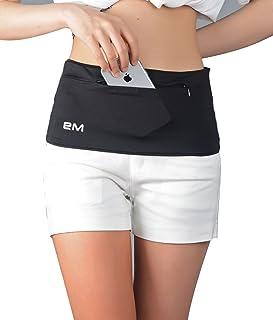 EAZYMATE 时尚跑步腰带 - 旅行钱带拉链口袋适合所有智能手机护照