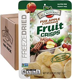 Brothers-ALL-Natural Fruit Crisps, Fuji Apple & Cinnamon, 0.35 Ounce (Pack of 100)