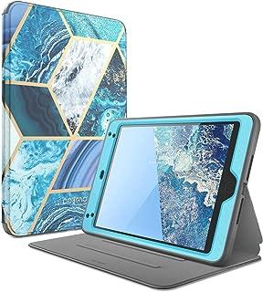i-Blason Cosmo Case for iPad Mini 5 2019 / iPad Mini 4, [Built-in Screen Protector] Full-Body Folding Stand Protective Case Cover with Auto Sleep/Wake, Blue, 7.9