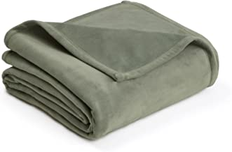 PLUSH BLANKET BY VELLUX - Full/Queen, Heavyweight, Micromink, Warmest, Bedspread, Pet-Friendly, Bed, Bedspread, Winter - Sage