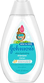 Johnson's Baby Ultra-Hydrating Tear-Free Kids Shampoo with Pro-Vitamin B5, Sulfate-Free, 13.6 fl. oz.