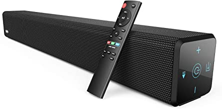 100Watt 32 Inch Soundbar, Bestisan 2.1 Channel Bluetooth 5.0 Sound Bar with Built-in Dual Subwoofer TV Speakers (2020 New ...