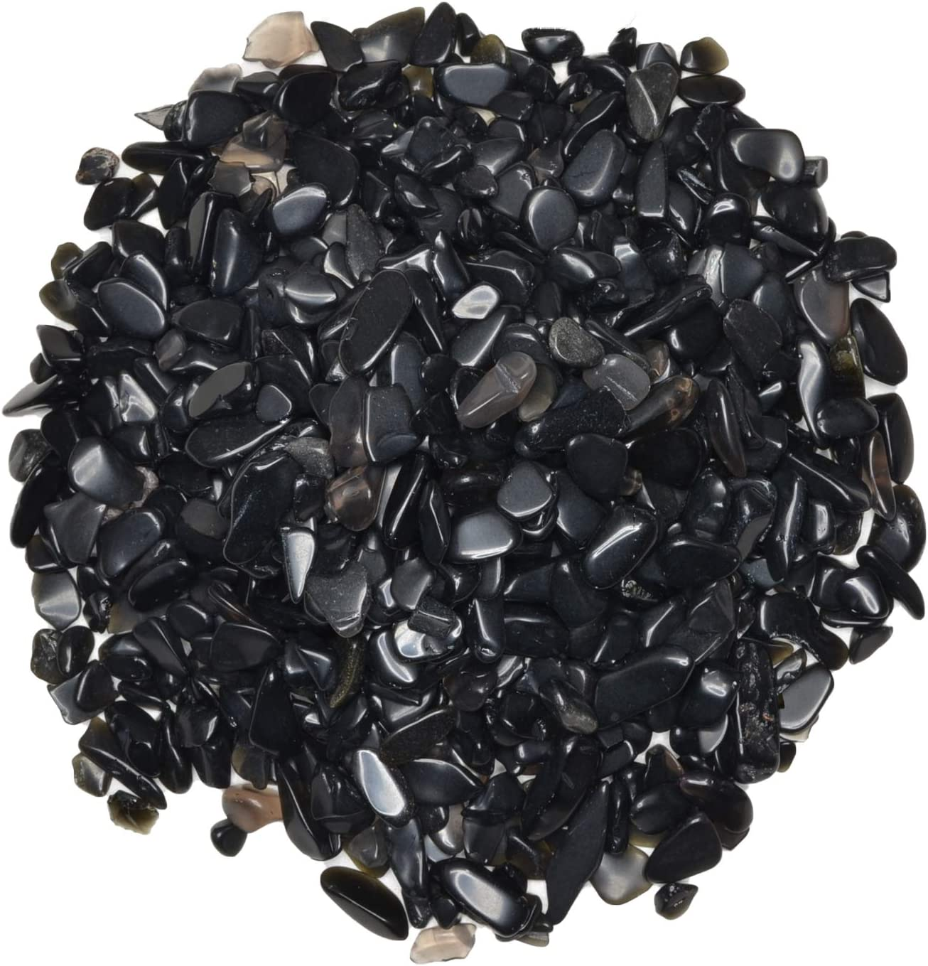 Hypnotic overseas Gems: 5 lbs of Polished Rock Obsidian Chi Natural Popular Black