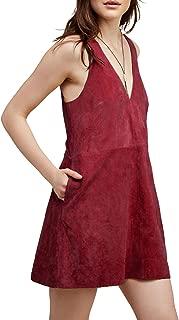 suede jumper dress