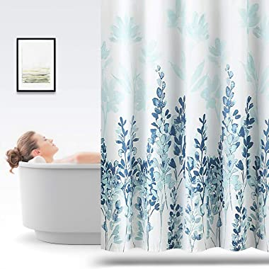 ARICHOMY Shower Curtain, Fabric Shower Curtain for Bathroom Blue Colour 7272inch Polyster for Window Bath