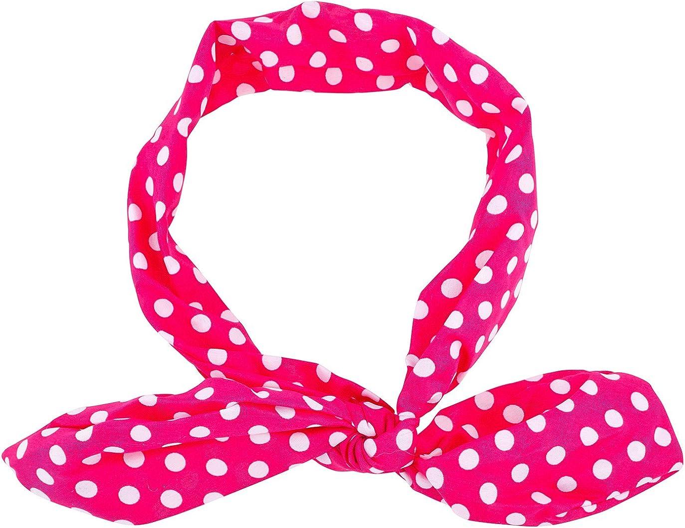 Lux Accessories Classic Polka Dot Chiffon Pin Up Girl HeadTie Scarf Headband