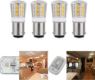 12V Low Voltage led Light Bulb BA15S 1156 1141 1073 5008 P21W 93 Replacement for RV Trailer Camper Motorhome Landscape Bulbs 2.5W 330lm Equivalent 30-35W Halogen Bulb Daylight 5000K Pack of 4