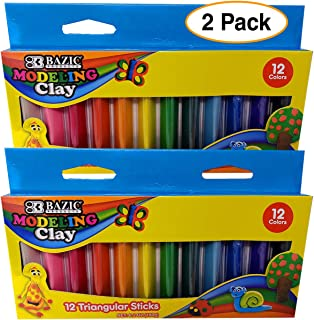 Modeling Clay Sticks 12 Colors   Reusable and Non-Drying – Triangular Shaped for Easier 3D Projects (1)